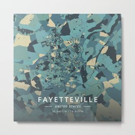 Fayetteville, United States - Cream Blue Metal Print