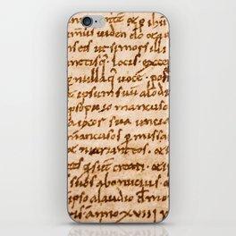 Handwritten script iPhone Skin