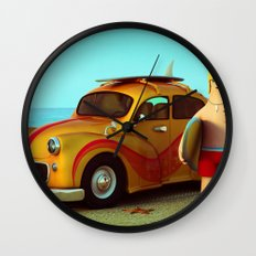 Surf Dude Wall Clock