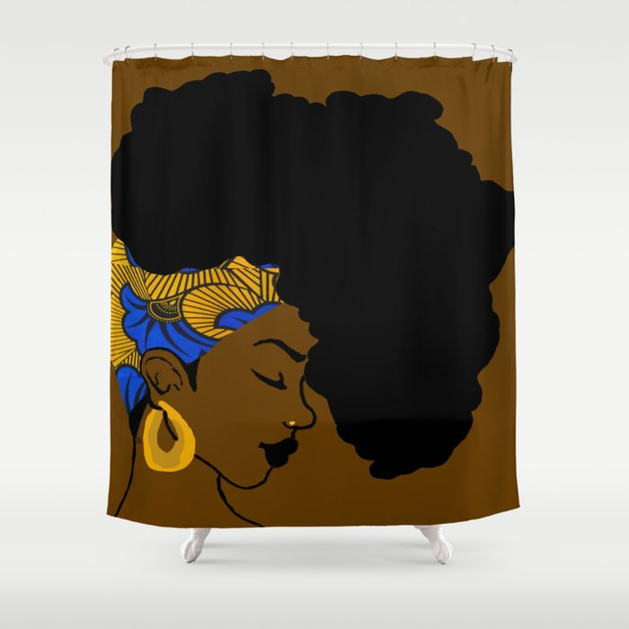 Fro African Shower Curtain By Manthag Society6