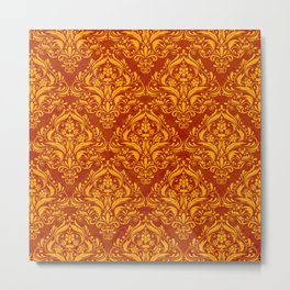Halloween damask colors #2 Metal Print