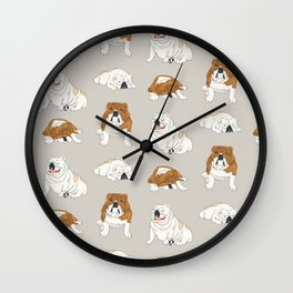 Bulldog Babies Wall Clock
