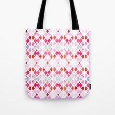 Diamond Geo Pinks & Blues Tote Bag
