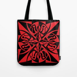 Think Mandala - Black Red Tote Bag