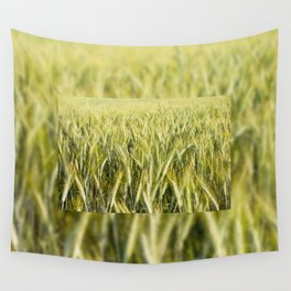 cereal plants grow plenty on field Wall Tapestry