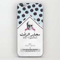 cigarettes iPhone & iPod Skins featuring Zift ' Cigarettes by min'