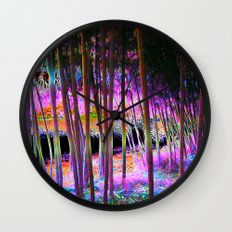 Pink Bamboo Forest  Wall Clock