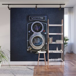 Black Retro Camera Wall Mural