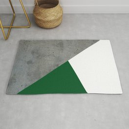 Concrete Festive Green White Rug