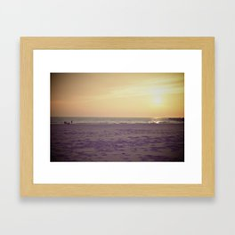 Lake Michigan. Framed Art Print