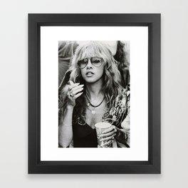 Stevie Nicks Young Black and white Retro Silk Poster Frameless Art Print Framed Art Print