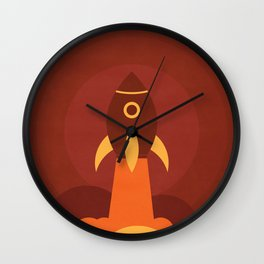 Up in the space Wall Clock