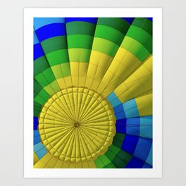Ballon Burst Art Print