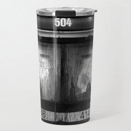Streetcar 504 Toronto city Black and white Travel Mug