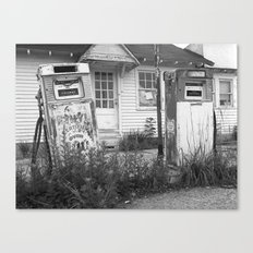Old Gas Pumps Canvas Print