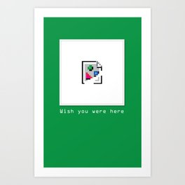Talk Nerdy to me - Wish you were here Art Print