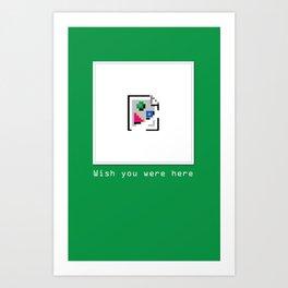 Talk Nerdy to me - Wish you were here Art Print
