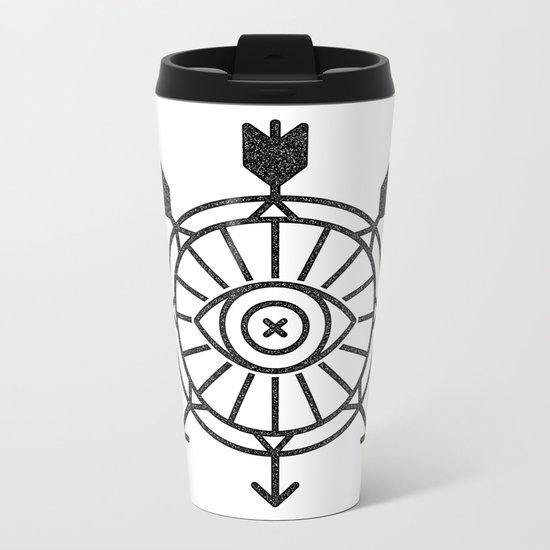 shield of arrows Metal Travel Mug