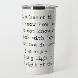 Omar Khayyám quote c Travel Mug