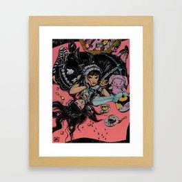 ants at a picnic Framed Art Print