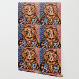 Cat and Her Kittens-Louis Wain Cats Wallpaper