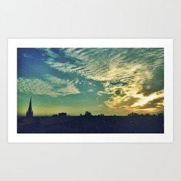 Charleston Skies Art Print