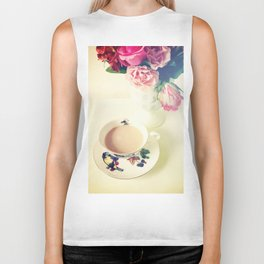 Roses and Chai Tea Biker Tank