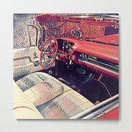 1959 Classic Cadillac Convertible Interior Metal Print