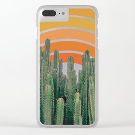 Cactus and Rainbow Clear iPhone Case