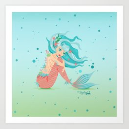 Monster Mermaid Pin-Up Art Print