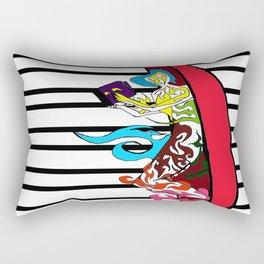 Life Inside Edamame Rectangular Pillow