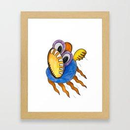 Fly Fish In Panic Framed Art Print