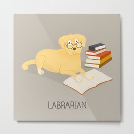 The Labrarian Metal Print