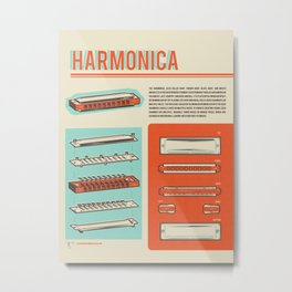 Harmonica Metal Print