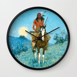 Frederic Remington - The Outlier, 1909 Wall Clock