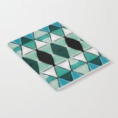 Art Deco Triangles Blue Notebook