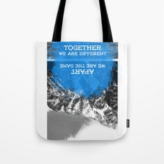 together and apart Tote Bag
