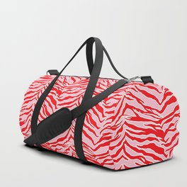 Tiger Print - Red and Pink Duffle Bag