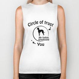 Circle of trust my Italian Greyhound Biker Tank
