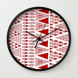 Zig Zag Pattern -  brick red Wall Clock