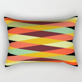 Geometric Pattern 28 (orange crisscross) Rectangular Pillow