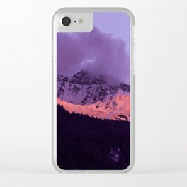 Swiss Alps Sunset II Clear iPhone Case