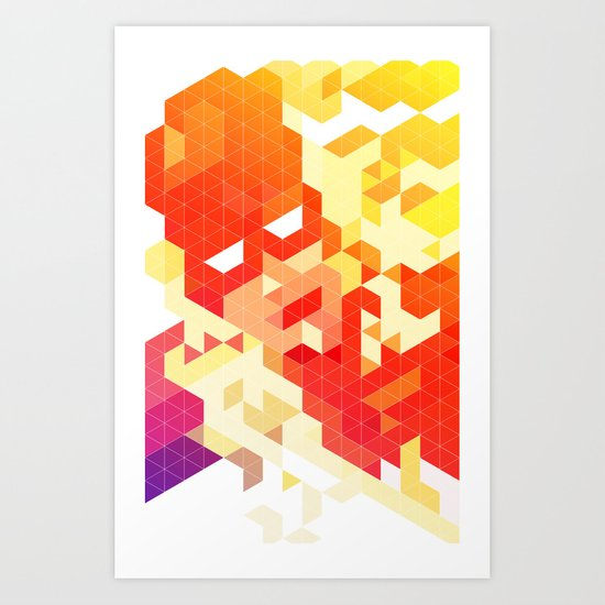 Geometric Hero 3 Art Print