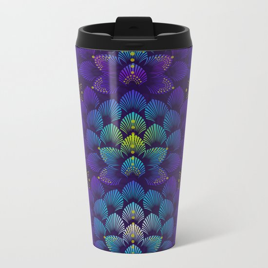 Variations on A Feather IV - Stars Aligned Metal Travel Mug