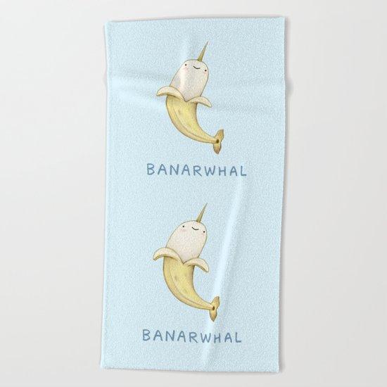 Banarwhal Beach Towel