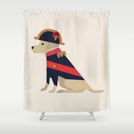Napoleon, dog emperor Shower Curtain