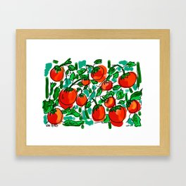 Vine Ripes Framed Art Print