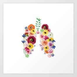 Floral Lungs Art Print