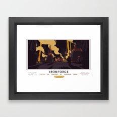 Ironforge Classic Rail Poster Framed Art Print