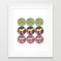 horses Framed Art Prints featuring Horses by Lorenza Bluetiz